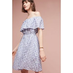 ⚡️Anthro Off The Shoulder Gingham Dress ⚡️